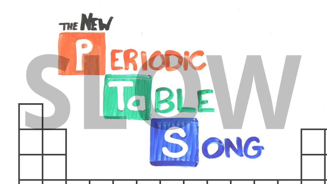 Slow the new periodic table song in order asapscience 2013 slow the new periodic table song in order asapscience 2013 lyrics voicetube urtaz Images