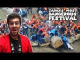 日本で一番危険な祭り-御柱祭り(Japan's Most DEADLY and Dangerous Festival: Onbashira Matsuri) Image