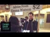 艾瑪華森現身街頭...從iPad上面給你人生意見? (Emma Watson Gives Advice From An iPad) Image