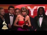 激勵人心!泰勒絲葛萊美獎年度專輯得獎感言(中英文字幕) (Taylor Swift | Album of the Year | 58th GRAMMYs) Image