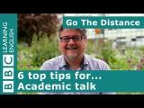 學術見解 - 6 個學術講座的頂尖技巧 (Academic Insights – #6 top tips for... academic talk) Image